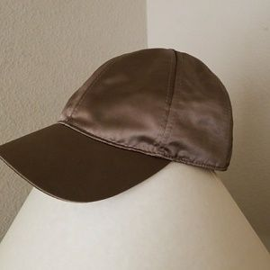 NEW H&M olive green satin hat cap